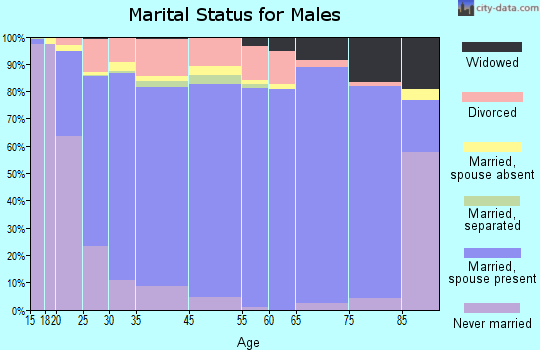 Becker County marital status for males