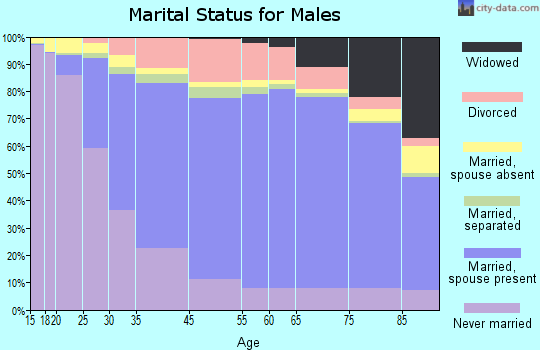 Fulton County marital status for males