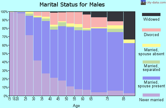 Centre County marital status for males