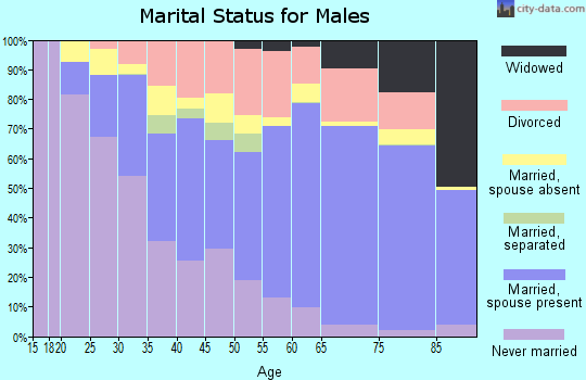 Grundy County marital status for males