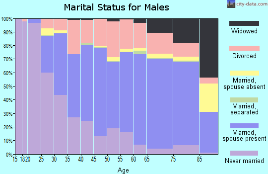 Spokane County marital status for males