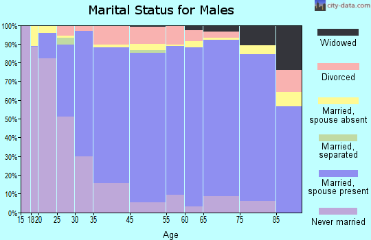 Hughes County marital status for males