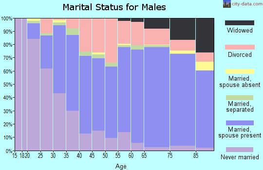 Hancock County marital status for males