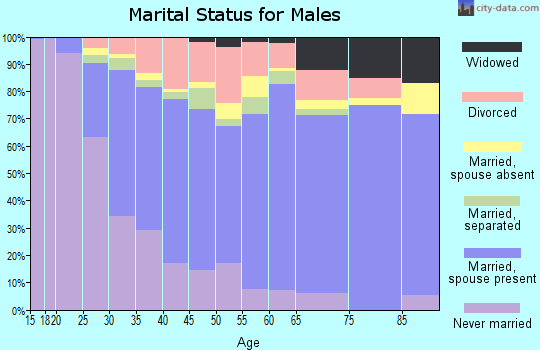 Cass County marital status for males