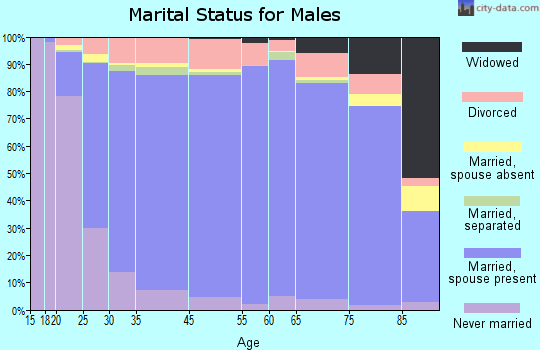 Coffee County marital status for males
