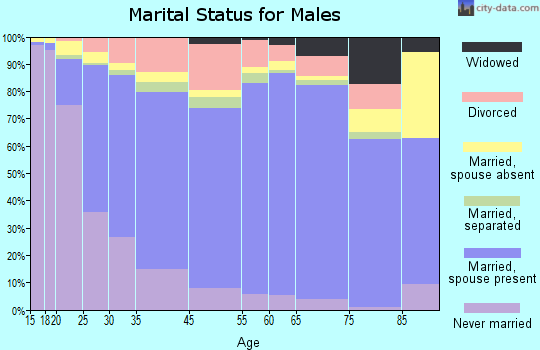 Natchitoches Parish marital status for males