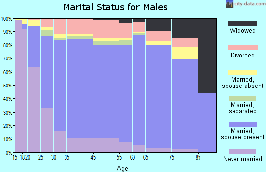 San Bernardino County marital status for males