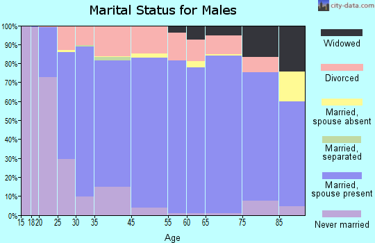 San Diego County marital status for males