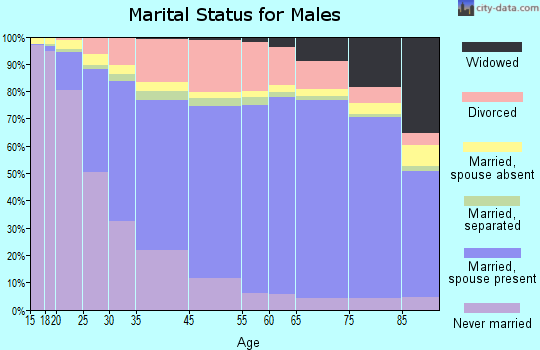 Hawkins County marital status for males