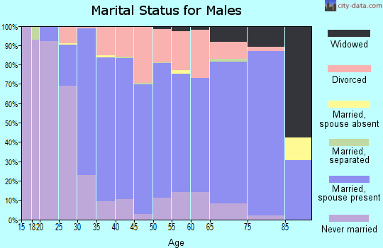 Whatcom County marital status for males