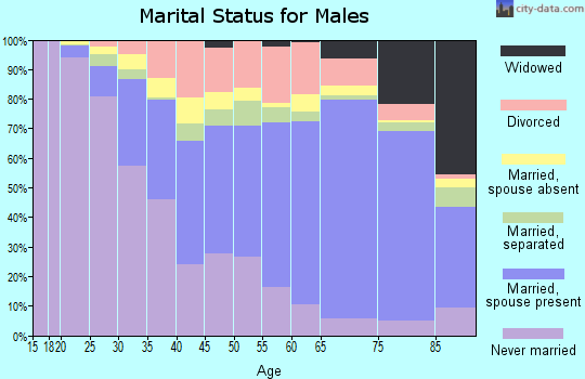 Jay County marital status for males
