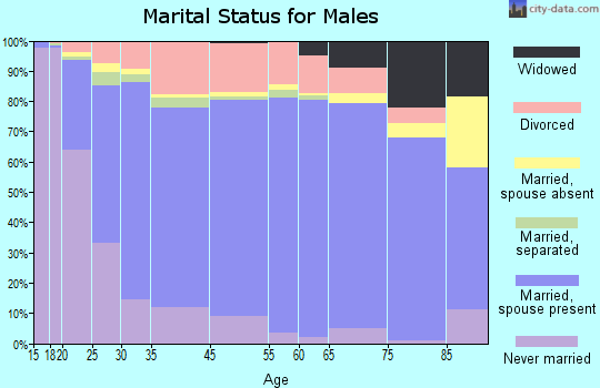 Orangeburg County marital status for males