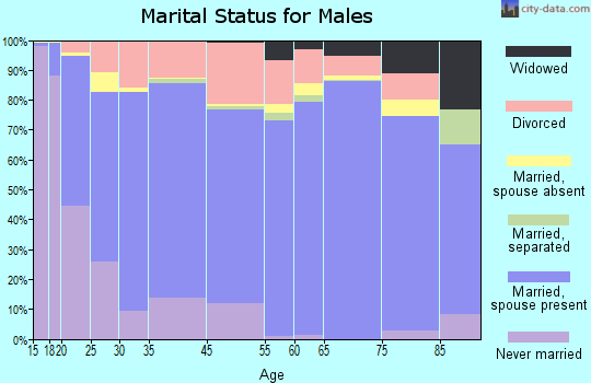 Bradford County marital status for males