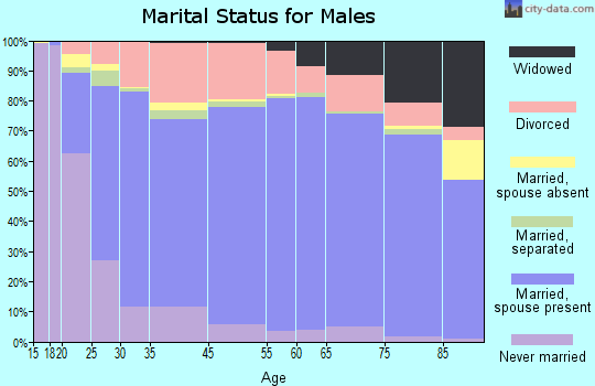 Barber County marital status for males