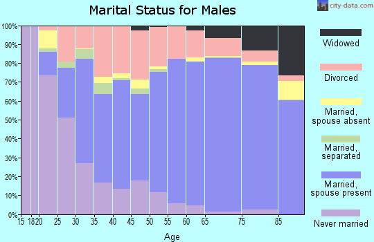 Manatee County marital status for males