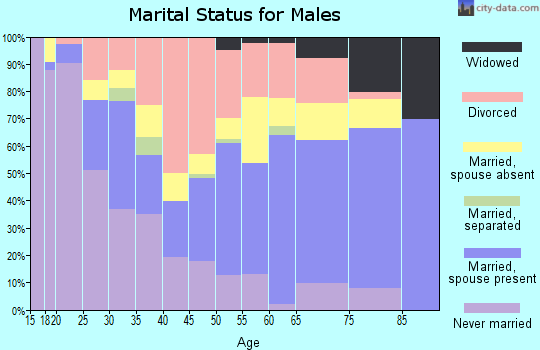 Dukes County marital status for males