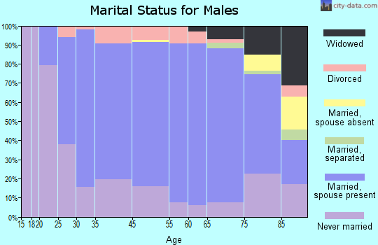 Halifax County marital status for males