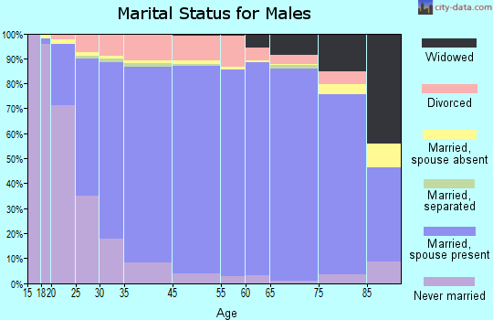 Sumter County marital status for males