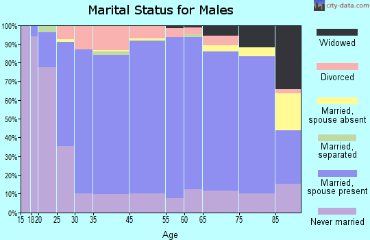 Miami-Dade County marital status for males