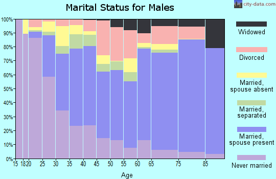 Collingsworth County marital status for males