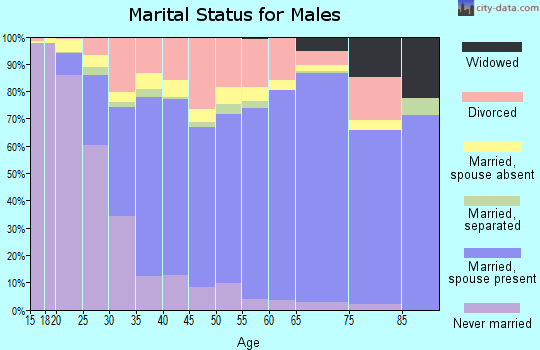 Okaloosa County marital status for males