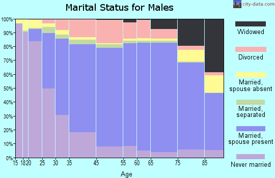 Taylor County marital status for males