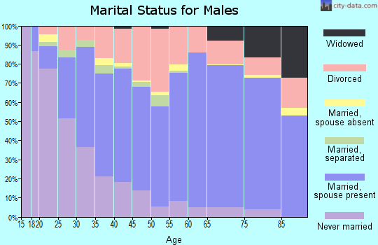 Pepin County marital status for males