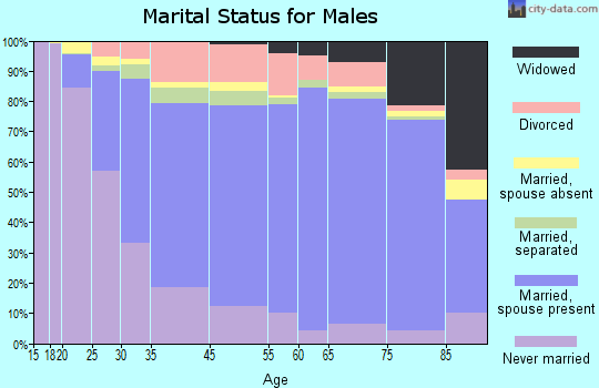 Hoke County marital status for males