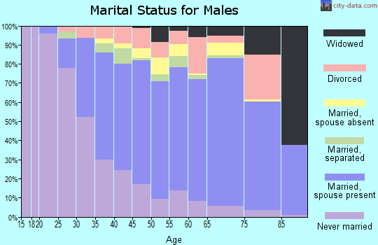 Kingman County marital status for males
