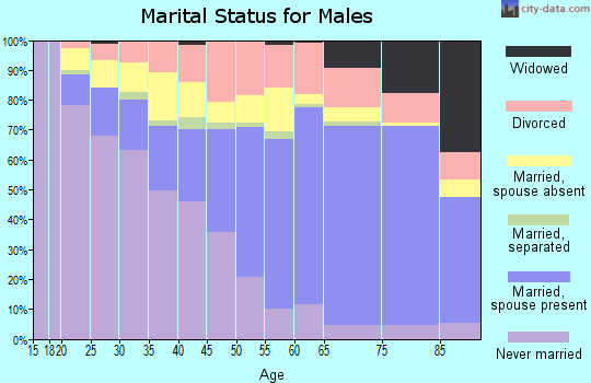 Lake County marital status for males