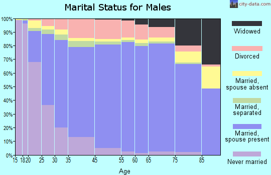 Iredell County marital status for males