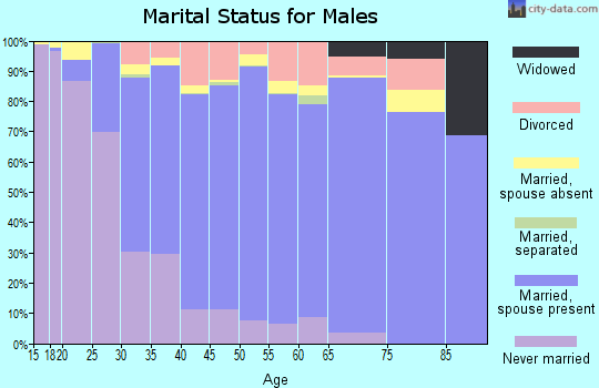 Newton County marital status for males