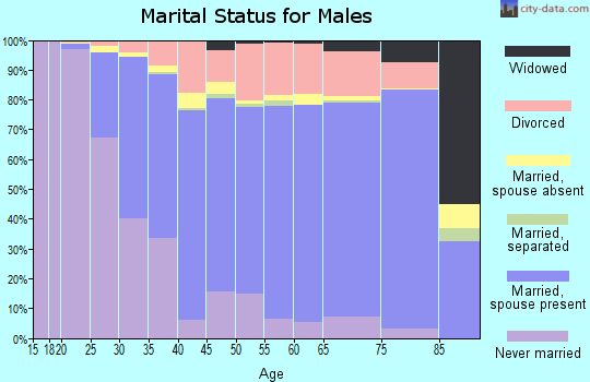 Pinellas County marital status for males