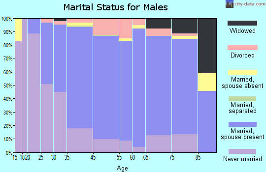 Knox County marital status for males