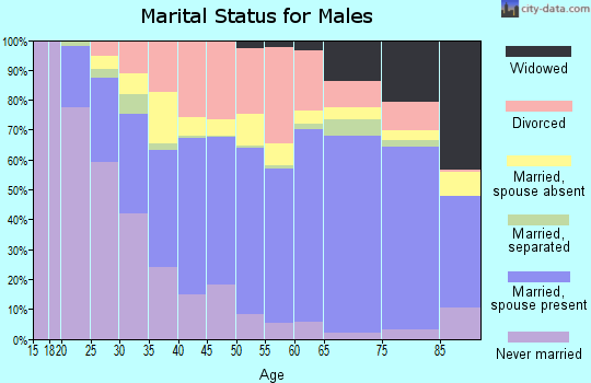Elbert County marital status for males