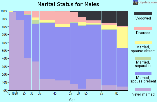Laclede County marital status for males