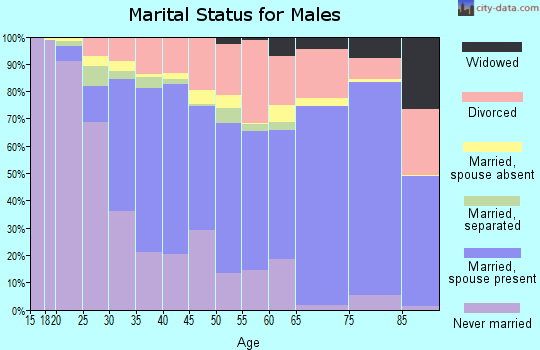 Meigs County marital status for males