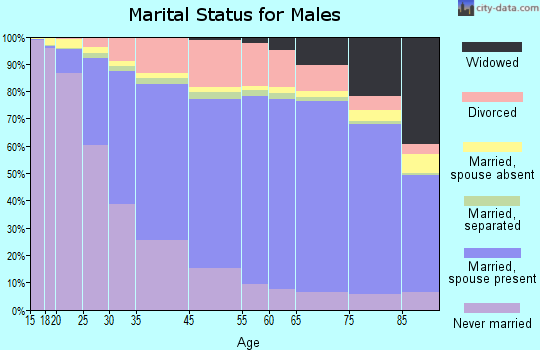 Emanuel County marital status for males