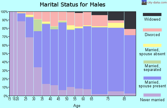Rusk County marital status for males