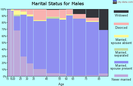 Wibaux County marital status for males
