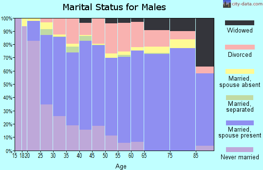 Miami County marital status for males