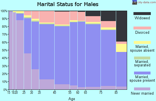 McNairy County marital status for males