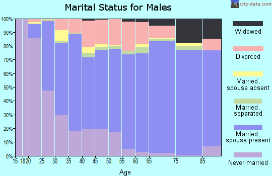 Juneau City and Borough marital status for males
