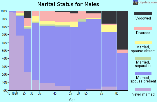 Ulster County marital status for males