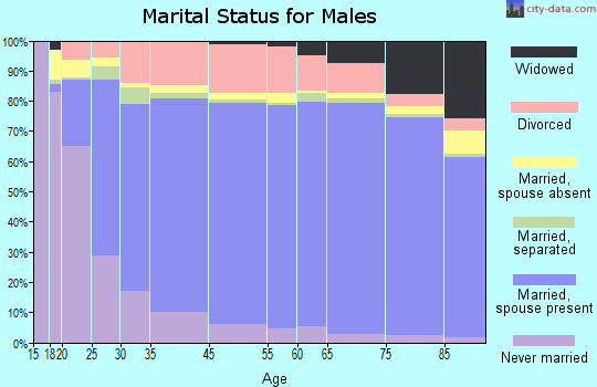 Okmulgee County marital status for males