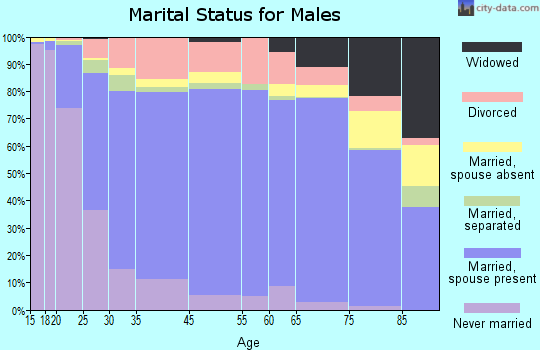 Fayette County marital status for males