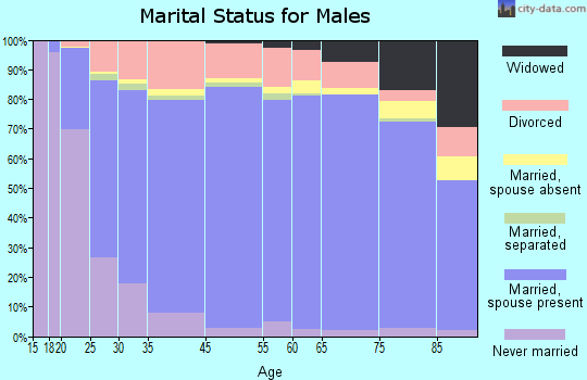Vermilion Parish marital status for males