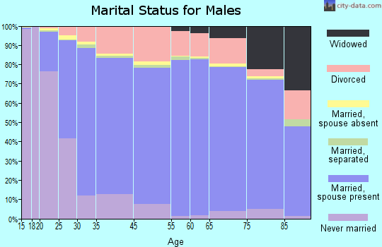 Montcalm County marital status for males