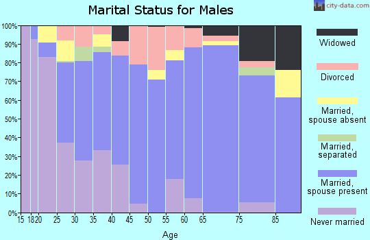Mecklenburg County marital status for males