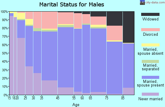 Meade County marital status for males